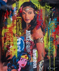 Wonder Woman by Zinsky - Original Painting on Stretched Canvas sized 28x33 inches. Available from Whitewall Galleries